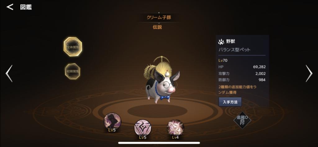 クリーム子豚