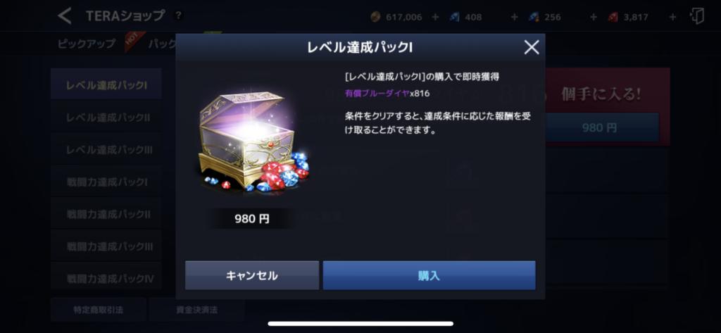 レベル達成パック1_2